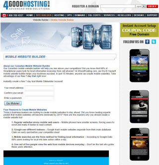 Canada Mobile Website Builder